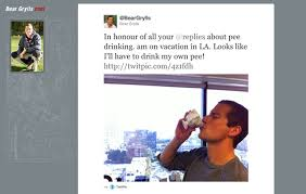 Bear Grylls Meme - bear grylls responds to pee drinking meme