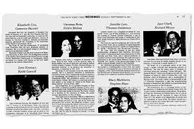 new york times weddings in pursuit of a more inclusive wedding section nytimes