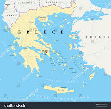 Athens Map Greece Political Map Hand Drawn Map Stock Vector 144838774