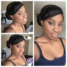 black hair styles to wear when your hair is growing out simple protective style relaxed hair youtube
