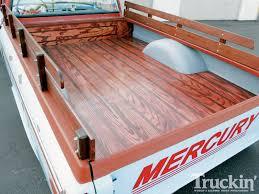 wooden truck bed 1963 mercury m100 custom truck truckin u0027 magazine