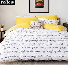 Customized Duvet Covers Aliexpress Com Buy Letter Printing Duvet Cover Sets King