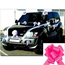 kit deco voiture mariage kit décoration voiture mariage fuchsia deco pas cher spafmariage