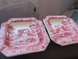 copeland spode pink tower 2 dishes ebay