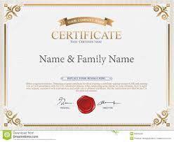 vector company certificate templates