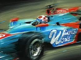 john andretti window world racing honda dallara indycar indianapolis motor sdway original oil painting on