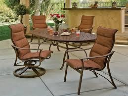 tropitone kd garden terrace cast aluminum 85 x 43 oval dining