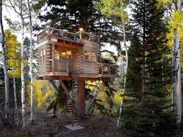 log cabin outdoor lighting treehouse designs convention denver rustic exterior decorators with