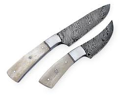 damascus steel chef knife set custom handmade kitchen kit ck 10