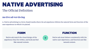 design definition in advertising will there ever be a consensus native advertising definition yes