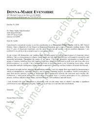 Best Way To Present Resume Resume Cover Letter For Teacher Example Teacher Cover Letter