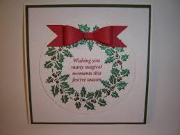 sweet poppy stencil holly wreath by sue hobbs sweet poppy