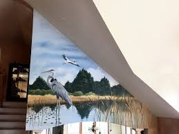 murals trompe l oeil and fine art artistic finishes artistic egrets mural