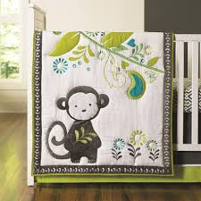 Green And Brown Crib Bedding by Happy Chic Baby By Jonathan Adler Safari Monkey 4 Piece Crib