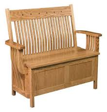 Wooden Entryway Bench Amish Oak Bench Wooden Wood Entry Benches Storage Seat Ebay