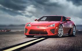 lfa lexus red red lexus lfa on the track hd desktop wallpaper widescreen