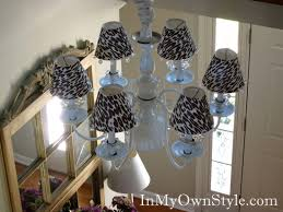How To Make A Lamp Shade Chandelier Diy Chandelier Shades U0026 Covers In My Own Style