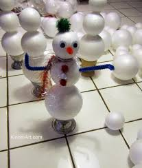 styrofoam ball snowman ornament christmas monthly seasonal