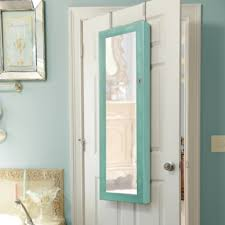 Kirklands Jewelry Armoire Distressed Turquoise Jewelry Armoire Mirror Kirklands