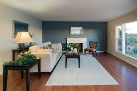 blue accent wall easy home painting ideas to increase resale value