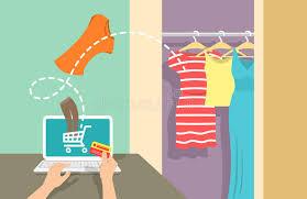design online clothes online shopping flat vector banner stock vector illustration of