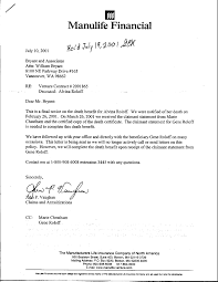 life insurance death claim letter format sample fun feed letters