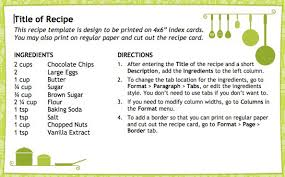 publisher recipe template 28 images 8 free recipe card