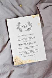 foil sted wedding invitations gold leaf wedding invitations pipkin paper company