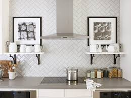 Traditional Kitchen Backsplash Ideas - simple modest white subway tile kitchen backsplash pictures white