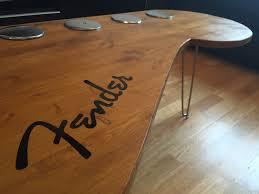 fender coffee table fender guitar coffee table pinterest
