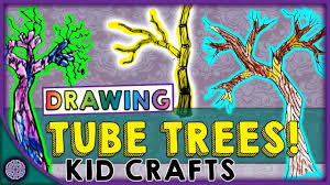 trees made out of tubes how to draw tube trees kid crafts