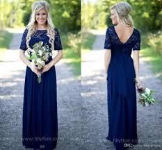 Robe De Chambre Soie Femme by Royal Blue Long Country Bridesmaid Dresses Lace Scoop Neckline