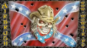 Rebel Flag Ford Airbrush By Wow No 438