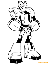 Cartoon Transformers Bumblebee Coloring Page Free Coloring Pages Bumblebee Coloring Pages