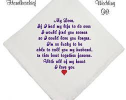 Wedding Gift Husband Grooms Handkerchief Etsy