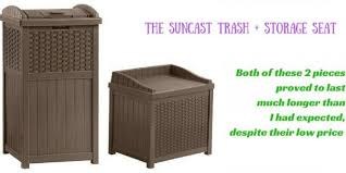 my experience with suncast resin wicker 22 gallon storage seat