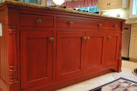 Antique Red Kitchen Cabinets by Distressed Black Kitchen Cabinets Tips Distressed Kitchen With