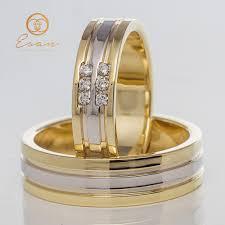 verighete din aur verighete din aur galben si alb cu diamante esv55 esan