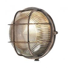 retro outdoor light fixtures coastal style industrial exterior bulkhead light in antique copper