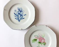 Shabby Chic Plates by Shabby Chic Home Decor Etsy