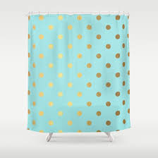 Turquoise Shower Curtain Creative Of Turquoise Shower Curtains And Gold Polka Dots On Aqua