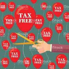 tax free concept tax balloons concept gst tax stock vector art