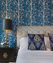 25 stunning blue bedroom ideas gold and blue tree wallpaper