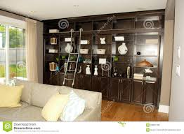 House Design Book Download by Living Room In A New House With Book Shelves U0027 Stock Photo Image