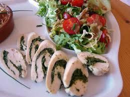cuisine dietetique recette de filets de poulet farcis aux herbes ultra diététique