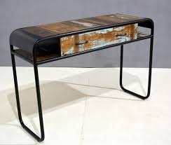 wood and metal console table with drawers vintage industrial metal and wood tv stand console table tv in