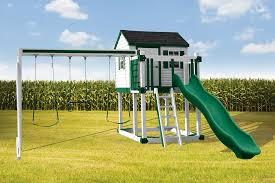 c 1 hideout best vinyl kids swingset u0026 playhouse swing kingdom