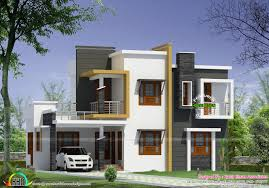 modern contemporary floor plans box type modern house plan kerala home design floor plans