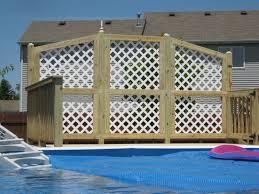 above ground pool privacy screen interior design