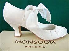 wedding shoes monsoon monsoon satin bridal shoes ebay